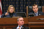 House Foreign Affairs Committee member Rep. Ileana Ros-Lehtinen (L) uses her alloted five minutes to question witnesses without leaving time for answers during a hearing about Cuba policy with committee Chairman Ed Royce (R-CA) (R) and Rep. Jeff Duncan (D-SC) in the Rayburn House Office Building on Capitol Hill February 4, 2015 in Washington, DC. The committee heard testimony on the impact of U.S. policy changes toward Cuba and Assistant Secretary of State For Western Hemisphere Affairs Roberta Jacobson's recent trip to Havana to begin the reestablishment of diplomatic ties between the former Cold War enemies.