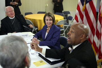 Calvin Jones House Leader Pelosi Holds Roundtable Discussion On Healthcare