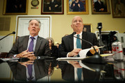 House Ways and Means Committee Chairman Kevin Brady (R-TX) (R)  and ranking member Rep. Richard Neal (D-MA) prepare to testify before the House Rules Committee about the Tax Cuts and Jobs Act Conference Report at the U.S. Capitol December 18, 2017 in Washington, DC. The committee held a hearing on the rules governing debate on the tax bill, which the House of Representatives is expected to vote on Tuesday.