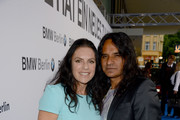 Christine Neubauer and Jose Campos attend Housewarming at BMW Dealership on May 8, 2014 in Berlin, Germany.