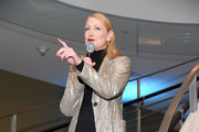 Event co-host Patricia Clarkson welcomes guests during Housing Works' Fashion for Action on November 14, 2019 in New York City.