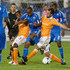 Collen Warner Photos - Collen Warner #18 of the Montreal Impact controls the ball against Luiz Camargo #17 and Adam Moffat #16 of the Houston Dynamo during the MLS match at Saputo Stadium on June 23 2012 in Montreal, Quebec, Canada. - Houston Dynamo v Montreal Impact