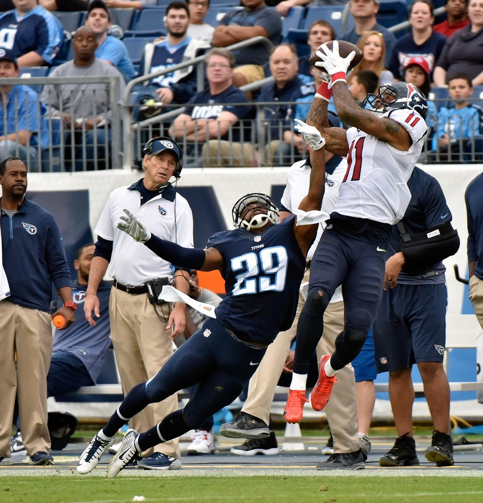 Perrish Cox In Houston Texans V Tennessee Titans 1 Of 2