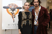 """Cleopatra Coleman (L) and Avan Jogia attend the """"Hover"""" Los Angeles premiere screening at Arena Cinelounge on June 29, 2018 in Hollywood, California."""
