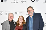 "Composer Alan Menken, Lori Korngiebel and director Don Hahn attend a screening of ""Howard"" during the 2018 Tribeca Film Festival at Cinepolis Chelsea on April 22, 2018 in New York City."