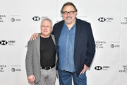 "Composer Alan Menken  and director Don Hahn attend a screening of ""Howard"" during the 2018 Tribeca Film Festival at Cinepolis Chelsea on April 22, 2018 in New York City."