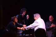Robin Quivers, Howard Stern, Tony Bennett and Billy Joel attend SiriusXM's Town Hall with Billy Joel hosted by Howard Stern at The Cutting Room on April 28, 2014 in New York City.