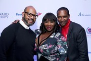 (L-R) Emil WilbekIn, Bevy Smith, and Chris Chambers attend La La Anthony's Pre-Grammy Party Presented by Howard University on January 26, 2018 in New York City.