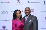 Aja Meeks (L) and U.S. Representative Gregory Meeks attend La La Anthony's Pre-Grammy Party Presented by Howard University on January 26, 2018 in New York City.