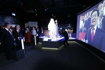 Hu Jintao China's President Xi Jinping Visits the Olympic Museum in Lausanne