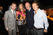 (L-R) Nick Candy, Holly Valance, Jean Claude Biver and Dave Clarke attend the Hublot store opening on New Bond Street on June 22, 2011 in London, England. At the opening ceremony for the 36th Hublot boutique tennis legend Ilie Nastase joined Hubolt CEO Jean-Claude Biver and Time Products Chairman Marcus Margulies to present the Nastie Bang.