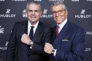 "In this handout image provided by Hublot, Ricardo Guadalupe and Michael Buffer attend the Hublot x WBC ""Night of Champions"" Gala at the Encore Hotel on May 03, 2019 in Las Vegas, Nevada."