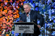 Aidan Quinn speaks onstage during the Hudson River Park Annual Gala at Cipriani South Street on October 17, 2019 in New York City.