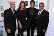 """(L-R) Jeffrey Katzenberg, Barbara Zweig, CEO of DreamWorks Animation, actor Tom Cruise and Chairman & Chief Executive Officer of Fox Filmed Entertainment Jim Gianopulos attend """"Hugh Jackman... One Night Only"""" Benefiting MPTF at Dolby Theatre on October 12, 2013 in Hollywood, California."""
