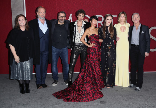 Premiere Of Universal Pictures' 'Mortal Engines' - Arrivals [mortal engines,red,event,fashion,premiere,dress,formal wear,carpet,haute couture,fashion design,flooring,arrivals,philippa boyens,jihae,leila george,christian rivers,universal pictures,hera hilmar,premiere,premiere]