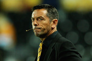 Manager Phil Brown of Hull City looks on during the Carling Cup Third Round match between Hull City and Everton at the KC Stadium on September 23, 2009 in Hull, England.
