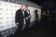 Chris Sullivan (L) and Justin Hartley attend Hulu's 2018 Golden Globes After Party at The Beverly Hilton Hotel on January 7, 2018 in Beverly Hills, California.