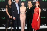 """(L-R) Chloe Sevigny, SVP Originals, Hulu Craig Erwich, Joey King, Patricia Arquette, AnnaSophia Robb attend Hulu's """"The Act"""" New York Premiere at The Whitby Hotel on March 14, 2019 in New York City."""