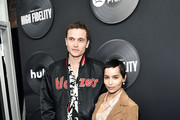"Karl Glusman and Zoe Kravitz attend Hulu's ""High Fidelity"" New York premiere at Metrograph on February 13, 2020 in New York City."