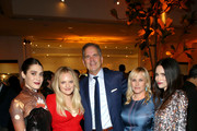 (L-R) Lizzy Caplan, Elisabeth Moss, Randy Freer, Patricia Arquette and Abigail Spencer attend the Hulu LA Press Party 2019 at Spago on November 12, 2019 in Beverly Hills, California.