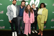 """Ian Owens, Luka Jones, Aidy Bryant, John Cameron Mitchell and Lolly Adefope attend Hulu's """"Shrill"""" New York Premiere at Walter Reade Theater on March 13, 2019 in New York City."""