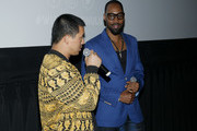 """Alex Tse and RZA speak onstage during Hulu's """"Wu-Tang: An American Saga"""" Premiere and Reception at Metrograph on September 04, 2019 in New York City."""