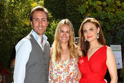 (L-R) CNN Social Correspondent Philippe Cousteau, E! News Correspondent Ashlan Gorse and Actor Emily Deschanel attend The Humane Society of the United States' Veg Appetit at Smogshoppe on June 16, 2013 in Los Angeles, California.