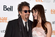 """Actor Al Pacino (L) and Lucila Sola attend """"The Humbling"""" premiere during the 2014 Toronto International Film Festival at The Elgin on September 4, 2014 in Toronto, Canada."""