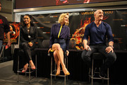 'The Hunger Games: Catching Fire' cast members Jena Malone, Meta Golding and Bruno Gunn meet fans on November 5, 2013 at Mall of America in Bloomington, Minnesota.