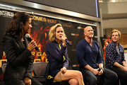 'The Hunger Games: Catching Fire' cast members Jena Malone, Sam Claflin, Meta Golding and Bruno Gunn meet fans on November 5, 2013 at Mall of America in Bloomington, Minnesota.