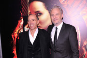 Producer Jon Kilik and Director Francis Lawrence attend the 'Hunger Games: Catching Fire' New York Premiere at AMC Lincoln Square Theater on November 20, 2013 in New York City.