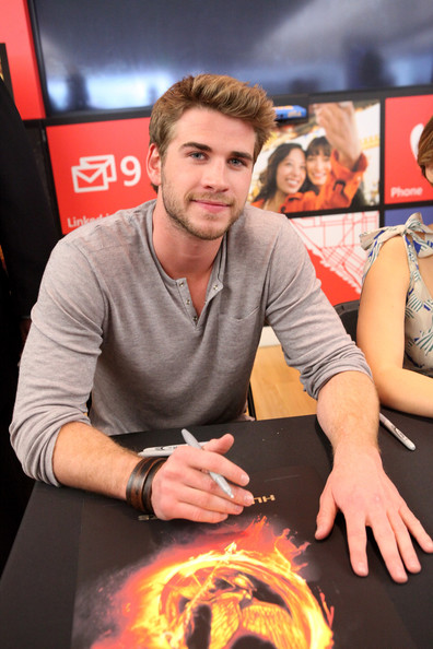 Actor Liam Hemsworth attends The Hunger Games U.S. Mall Tour Kick-Off at Westfield Century City on March 3, 2012 in Los Angeles, California.