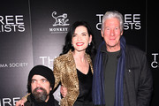 "(L-R) Peter Dinklage, Julianna Margulies and Richard Gere attend a screening of ""Three Christs"" hosted by IFC and the Cinema Society at Regal Essex Crossing on January 09, 2020 in New York City."