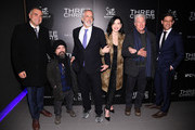 "(L-R) Eric Nazarian, Peter Dinklage, Jon Avnet, Julianna Margulies, Richard Gere and Daniel Levin attend a screening of ""Three Christs"" hosted by IFC and the Cinema Society at Regal Essex Crossing on January 09, 2020 in New York City."