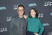 Executive producers and creators Fred Armisen and Carrie Brownstein attend the IFC presentation of Brockmire and Portlandia on January 14, 2017 in Pasadena, California.