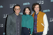(L-R) Executive producers and creators Fred Armisen, Carrie Brownstein and Jonathan Krisel attend the IFC presentation of Brockmire and Portlandia on January 14, 2017 in Pasadena, California.