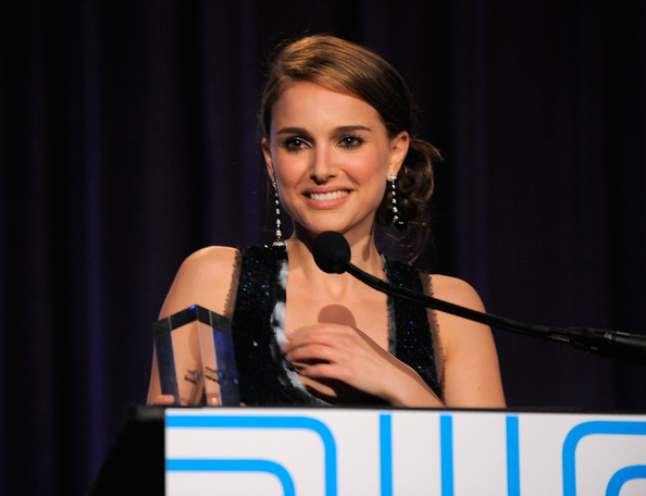 Natalie Portman Actress Natalie Portman speaks onstage at IFP's 19th Annual Gotham Independent Film Awards at Cipriani, Wall Street on November 30, 2009 in New York City.