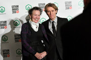 Laurie Anderson and Willem Dafoe pose backstage durinig IFP's 27th Annual Gotham Independent Film Awards at Cipriani, Wall Street on November 26, 2018 in New York City.