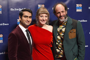 (L-R) Actor Kumail Nanjiani, writer Emily V. Gordon and director Luca Guadagnino attend The 2017 IFP Gotham Independent Film Awards co-sponsored by Landmark Vineyards at Cipriani Wall Street on November 27, 2017 in New York City.