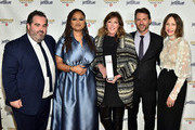 Berry Welsh, Ava DuVernay, Jane Rosenthal, Jonathan King, and Vera Farmiga pose with an award backstage during the IFP's 29th Annual Gotham Independent Film Awards at Cipriani Wall Street on December 02, 2019 in New York City.