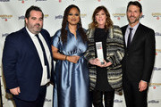 Berry Welsh, Ava DuVernay, Jane Rosenthal, and Jonathan King pose with an award backstage during the IFP's 29th Annual Gotham Independent Film Awards at Cipriani Wall Street on December 02, 2019 in New York City.