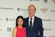 Constance Wu and Executive Director of IFP and the Made in New York Media Center by IFP Jeff Sharp attend the IFP's 29th Annual Gotham Independent Film Awards at Cipriani Wall Street on December 02, 2019 in New York City.