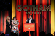 Yul Vazquez speaks onstage during the IFP's 29th Annual Gotham Independent Film Awards at Cipriani Wall Street on December 02, 2019 in New York City.