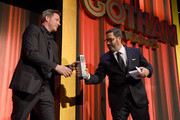 Glen Basner accepts an award onstage from Ed Burns (L) during the IFP's 29th Annual Gotham Independent Film Awards at Cipriani Wall Street on December 02, 2019 in New York City.
