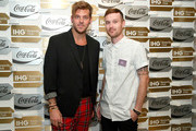 """Andrew Slyfox (L) and Jeff Johnson attend """"A Toast To Travel"""" presented by the IHG Rewards Club at Kimpton Hotel Eventi on November 28, 2018 in New York City."""