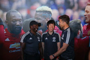 Former Manchester United player Dwight Yorke, Park Ji-Sung and Ronny Johnsen attend ILOVEUNITED Fan Party on May 13, 2018 in Beijing, China.