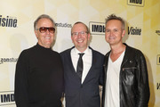 (L-R) Actor Peter Fonda, IMDb founder and CEO Col Needham, and Vice President of Amazon Studios Roy Price attend IMDb's 25th Anniversary Party co-hosted by Amazon Studios presented by VISINE at Sunset Tower Hotel on October 15, 2015 in West Hollywood, California.
