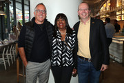 Sundance's John Cooper, Chaz Ebert and IMDb Founder and CEO Col Needham attend the IMDb Dinner Party at Toronto 2019 at FIGO on September 08, 2019 in Toronto, Canada.