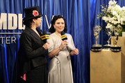 Director Amy Sherman-Palladino (L), winner of Outstanding Writing and Directing for a Comedy Series for 'The Marvelous Mrs. Maisel' and actor Alex Borstein, winner of Outstanding Supporting Actress in a Comedy Series for 'The Marvelous Mrs. Maisel', attend IMDb LIVE After The Emmys 2018 on September 17, 2018 in Los Angeles, California.