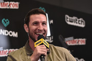 Pablo Schreiber of American Gods speaks onstage during IMDb LIVE at NY Comic-Con at Javits Center on October 7, 2017 in New York City.